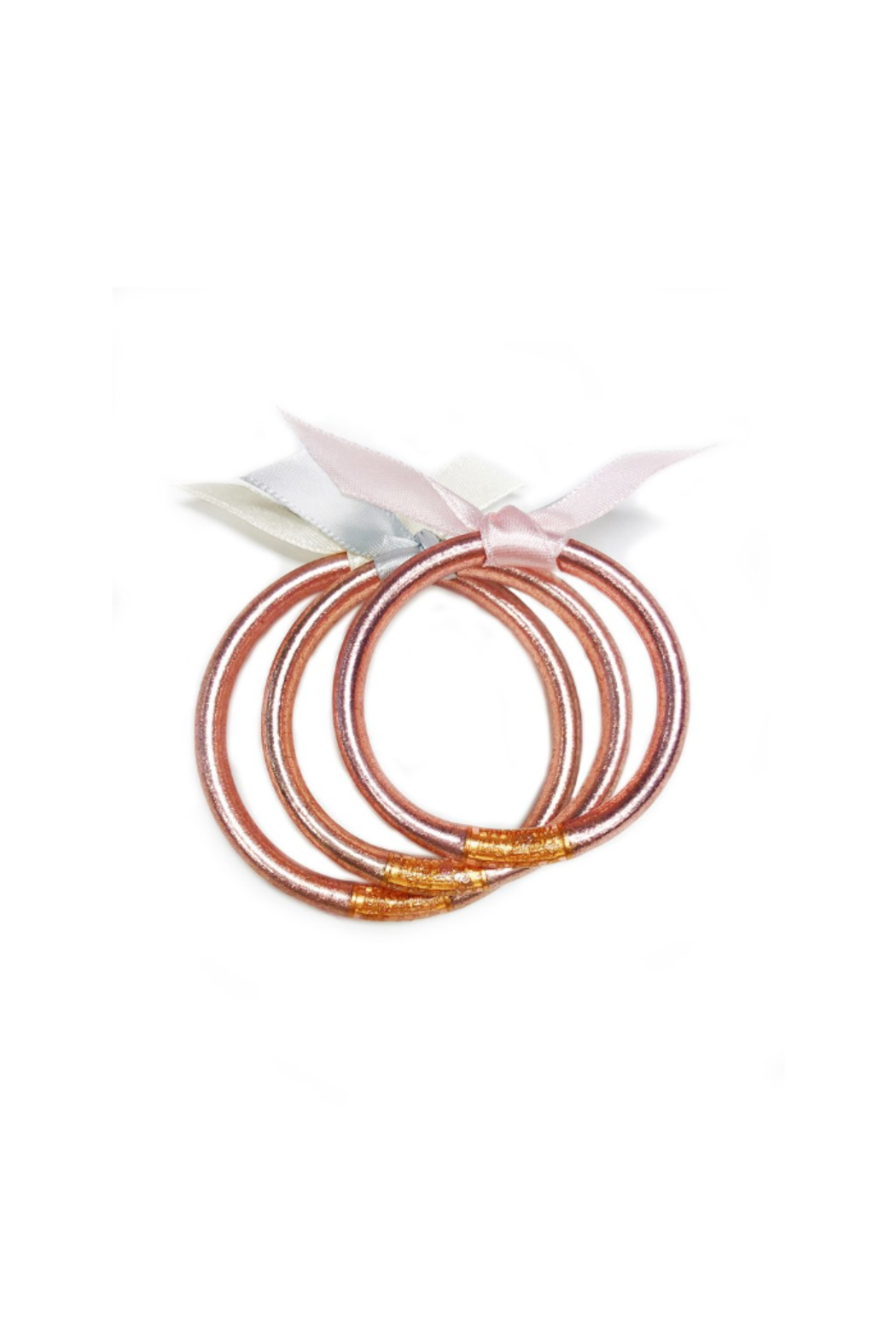The Birds Nest ROSE GOLD ALL WEATHER BANGLES FOR BABIES-SMALL - Front Cropped Image