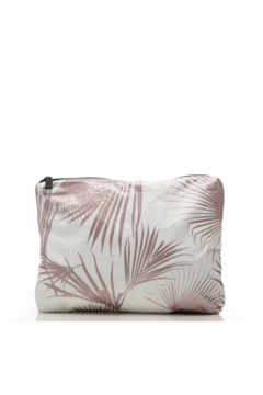 Aloha Collection Rose Gold Day Palms Zipper Bag - Product List Image
