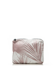 Aloha Collection Rose Gold Day Palms Zipper Pouch - Front cropped