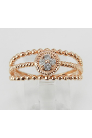 Margolin & Co Rose Gold Diamond Cluster Ring - Front cropped