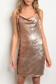 Alythea Rose Gold Dress - Product Mini Image
