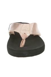 Corky's Shoes Rose Gold Flip Flop - Front full body