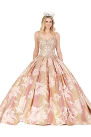 DANCING QUEEN Rose Gold Floral Patterned Ball Gown - Product Mini Image