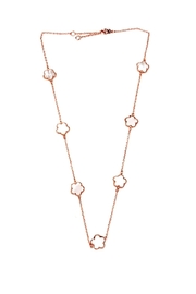Lets Accessorize Rose-Gold Flower Necklace - Product Mini Image