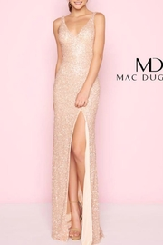Mac Duggal Rose Gold Gown - Front cropped