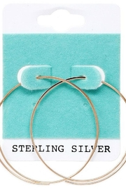 US Jewelry House Rose Gold Hoops - Product Mini Image