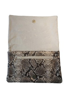 PaulyJen Rose Gold Metallic SnakeSkin Leather Convertible Clutch - Alternate List Image