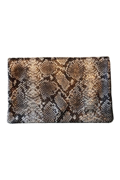 PaulyJen Rose Gold Metallic SnakeSkin Leather Convertible Clutch - Product List Image