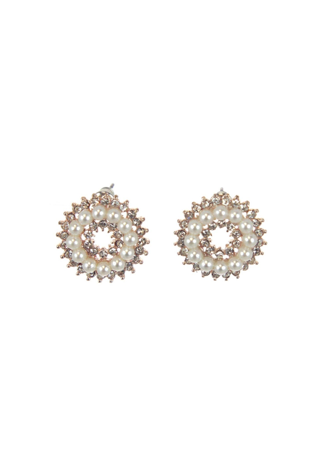 Diane's Accessories Rose-Gold Pearl Earrings - Main Image