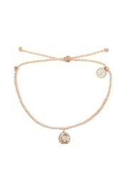 Puravida ROSE GOLD SAND DOLLAR BRACELET-BLUSH STRING - Product Mini Image