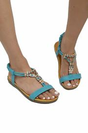 Sup Trading Gold Hardware Sandal - Back cropped