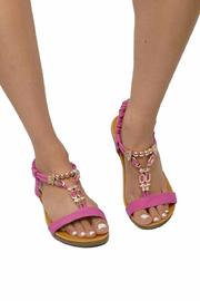 Sup Trading Gold Hardware Sandal - Side cropped