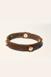 Giving Bracelets Rose Gold Screw & Leather Bracelet - Product Mini Image
