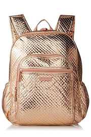 Vera Bradley Rose Gold Shimmer Campus Backpack - Product Mini Image