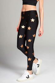 Terez Rose Gold Star Leggings - Product Mini Image