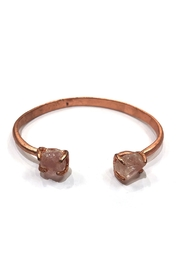 Nakamol Rose-Gold Stone Bangle - Product Mini Image