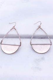 AL Boutique Rose-Gold Teardrop Earrings - Product Mini Image