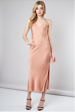 Shoptiques Product: Rose-Gold V-Neck Dress