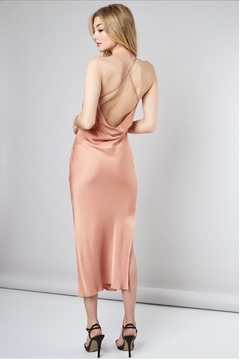 Do & Be Rose-Gold V-Neck Dress - Alternate List Image