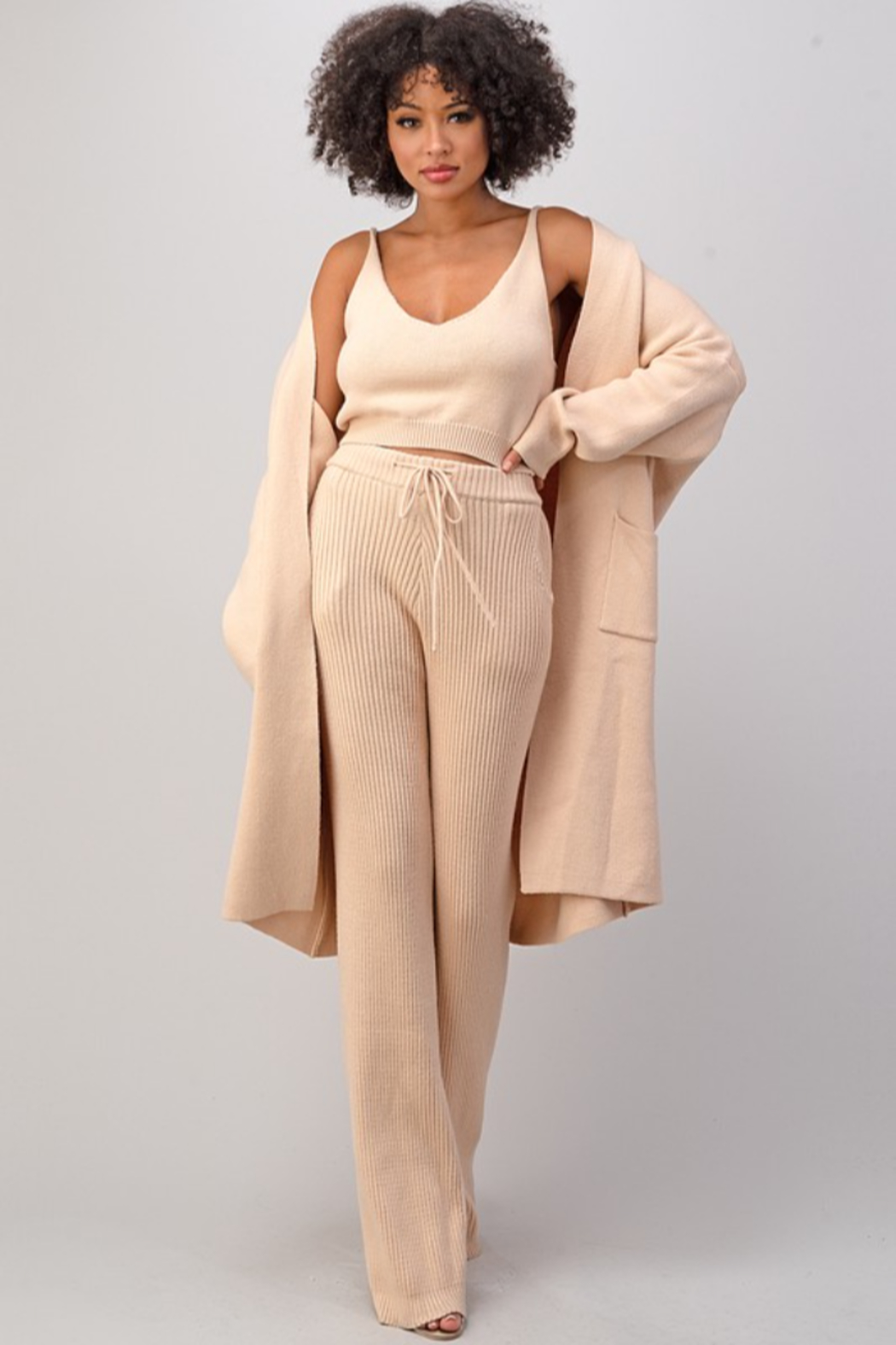 Athina Rose Knit Pants - Front Cropped Image