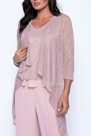 Frank Lyman Rose Knit Throwover - Product Mini Image
