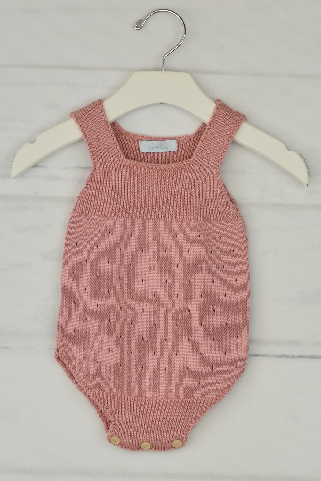 Granlei 1980 Rose Knitted Onesie - Front Cropped Image