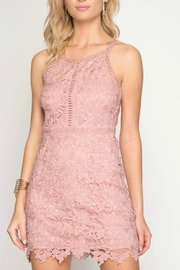 She + Sky Rose Lace Dress - Product Mini Image