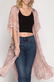 She + Sky Rose Lace Kimono - Product Mini Image
