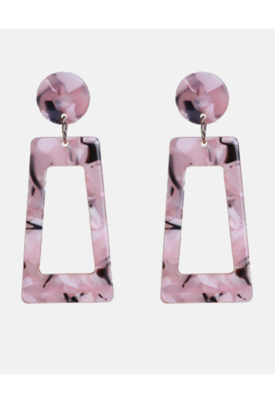 The Birds Nest ROSE MARBLE STATEMENT EARRINGS - Main Image
