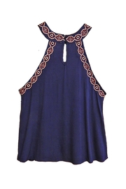 Blu Pepper Rose Navy Top - Product Mini Image