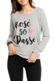 Chaser Rose Passe Drape Back Raglan - Product Mini Image