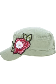 The Hatter Company Rose Patch Military-Hat - Alternate List Image
