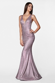 Cinderella Divine Rose Pink Metallic Long Formal Dress - Product Mini Image
