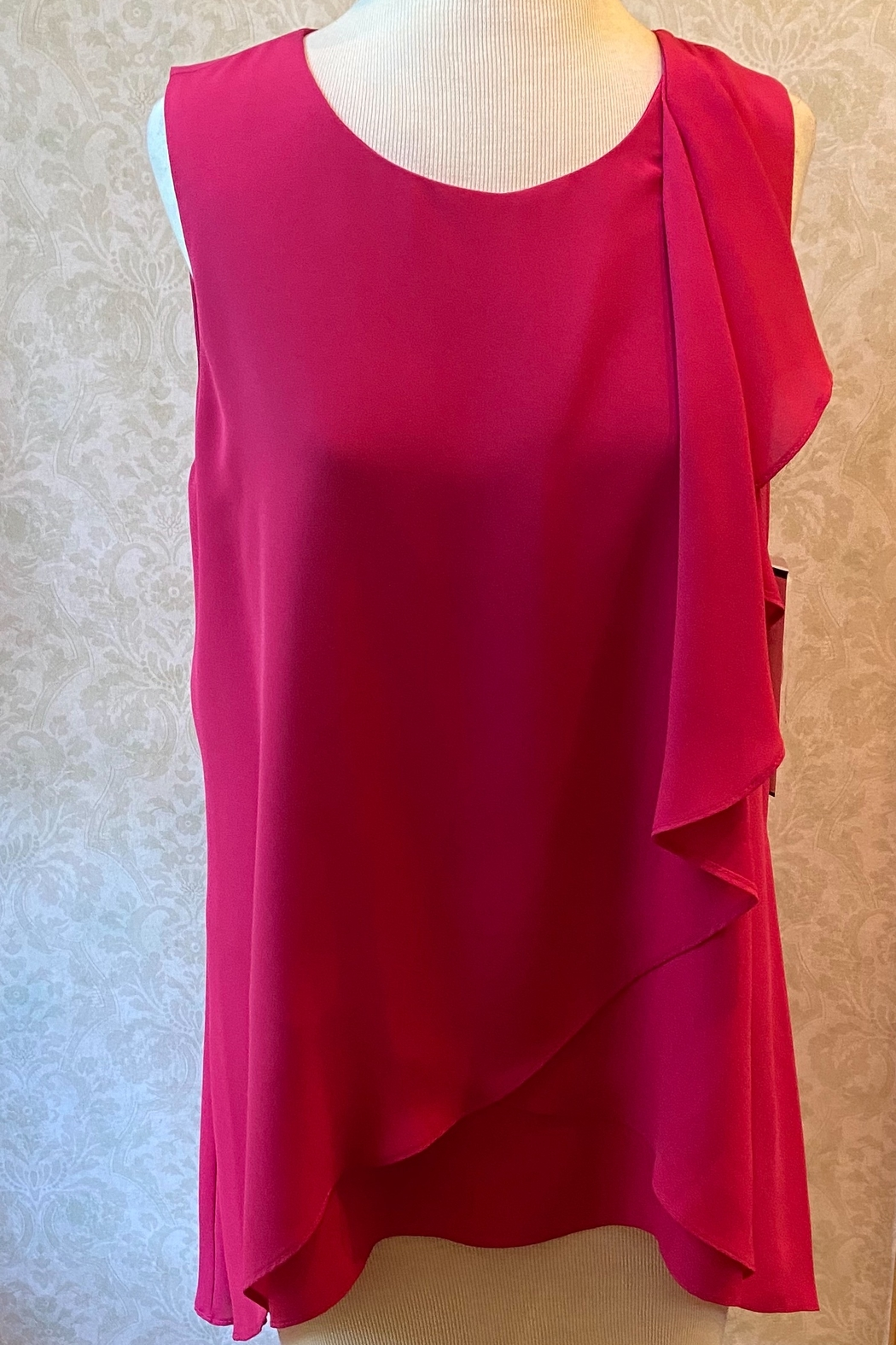 Joseph Ribkoff  Rose pink tunic top - Front Cropped Image