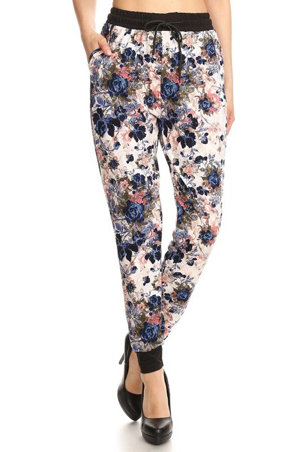 New Mix Rose Print Jogger - Main Image