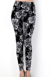 New Mix Rose Print Leggings - Product Mini Image