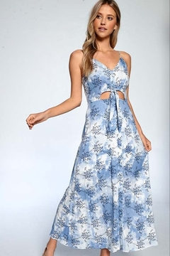 Papermoon Rose Print Tie Dye Maxi Dress - Product List Image