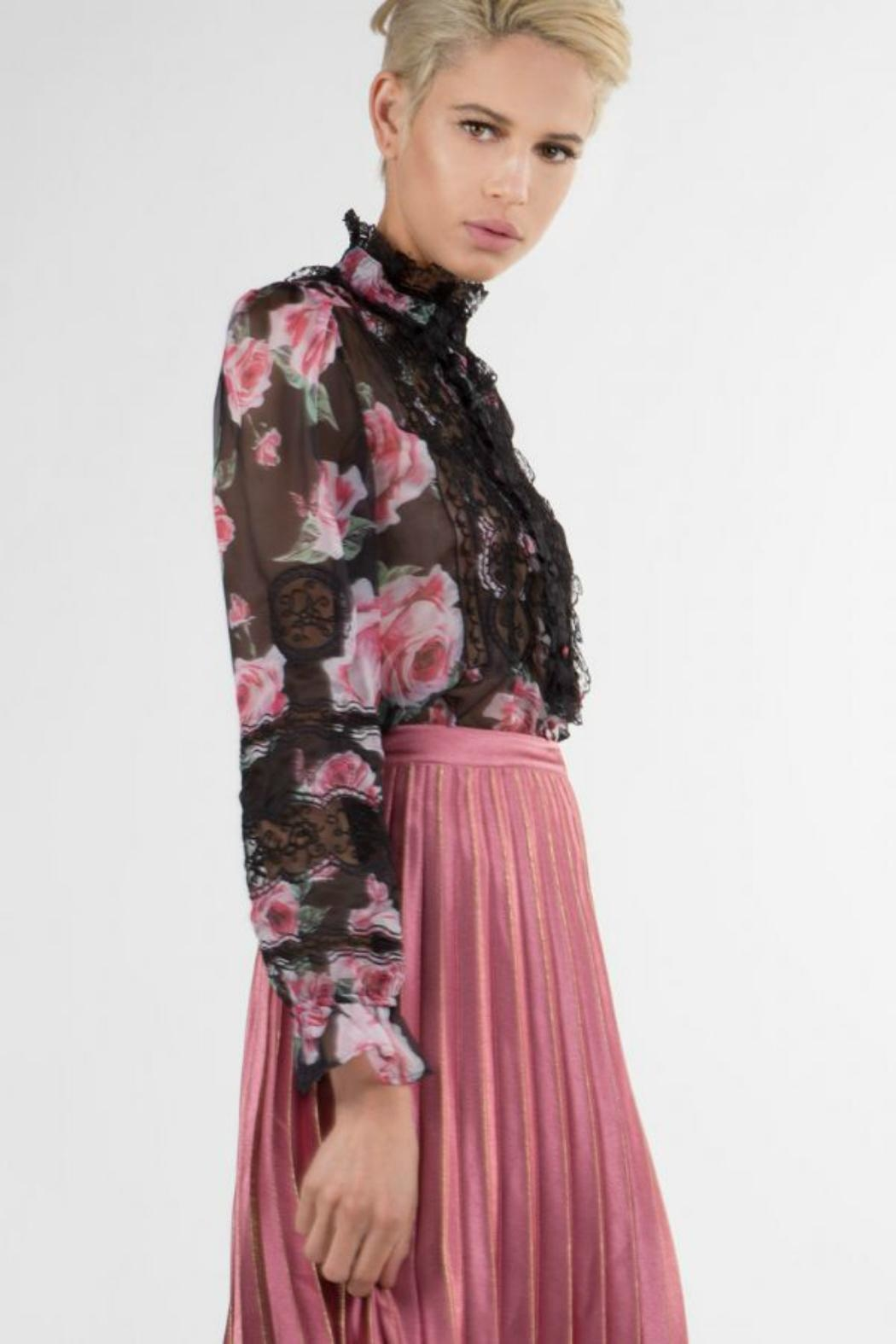 BEULAH STYLE Rose Print Top - Front Full Image