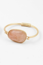 Embellish Rose Quartz Bracelet - Front cropped