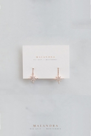 MALANDRA Jewelry Rose Star Earrings - Product Mini Image