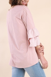 Umgee USA Rose Stripe Top - Front full body