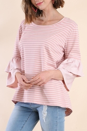 Umgee USA Rose Stripe Top - Front cropped