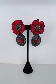 ADRIANA JEWERLY Rose Studded Accent Earring - Product Mini Image