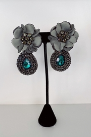 ADRIANA JEWERLY Rose Studded Statement Earrings - Product Mini Image