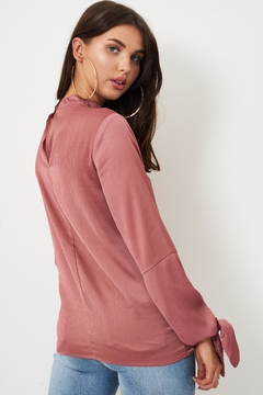 frontrow Rose Tie-Sleeve Blouse - Alternate List Image