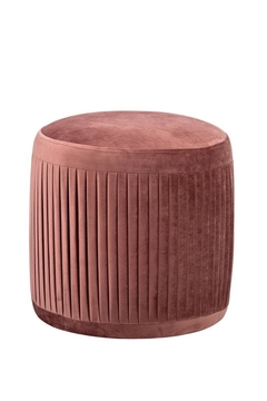 Bloomingville Rose Velvet Pleated Pouf - Alternate List Image