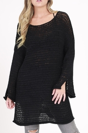 Rose & Eye Alexis Black Sweater - Front cropped