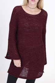Rose & Eye Alexis Burgundy Sweater - Front cropped