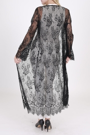 Rose & Eye Black Lace Duster - Side cropped