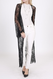 Rose & Eye Black Lace Duster - Product Mini Image